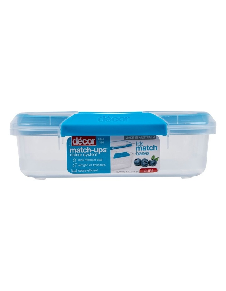 Match-Ups Clips Oblong 600mL Clear/Blue image 1