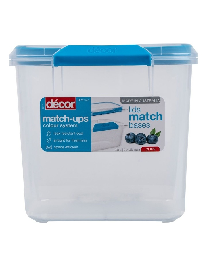 Match-Ups Clips Tall Oblong 2.3L Clear/Blue image 1