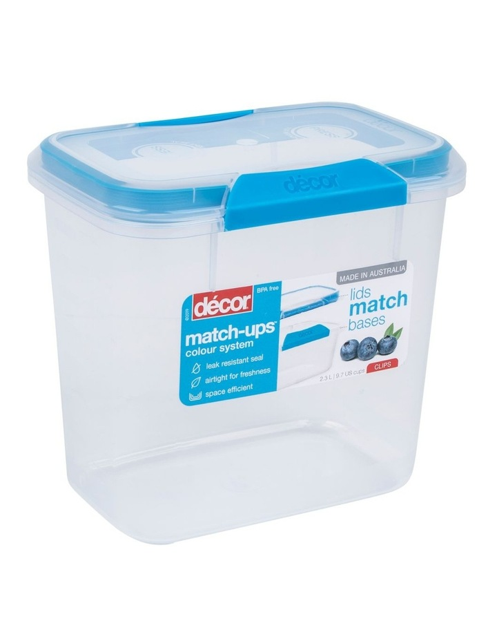 Match-Ups Clips Tall Oblong 2.3L Clear/Blue image 2