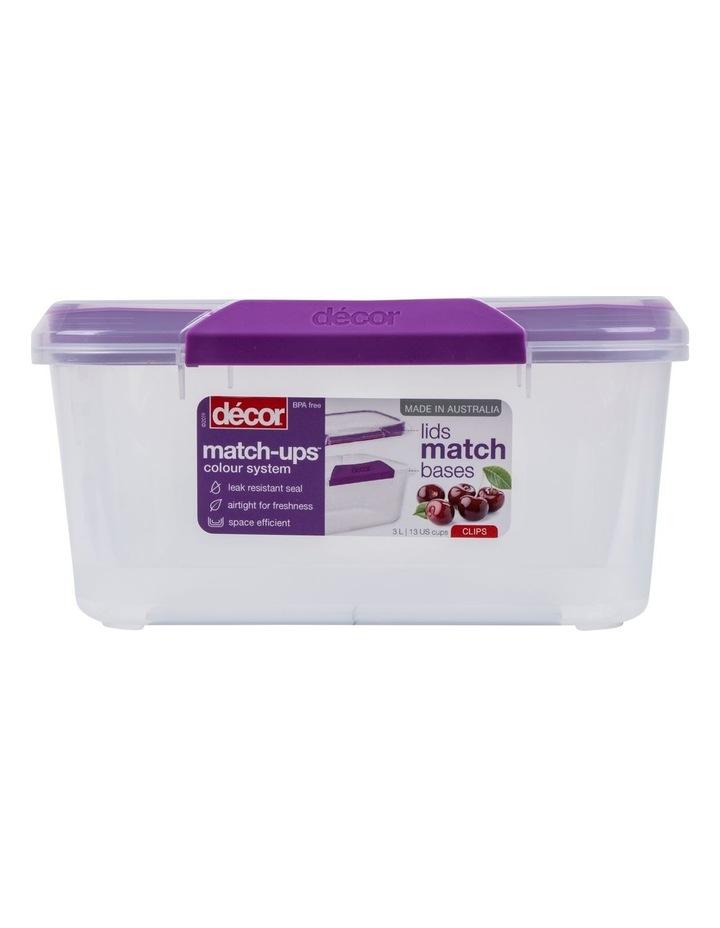 Match-Ups Clips Oblong 3L Clear/Purple image 1
