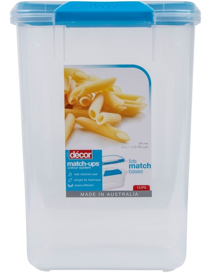 Match-Ups Clips Tall Oblong 3.5L Clear/Blue image 1