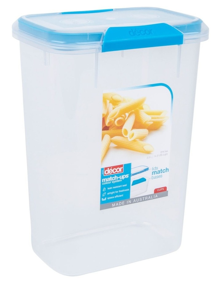 Match-Ups Clips Tall Oblong 3.5L Clear/Blue image 2