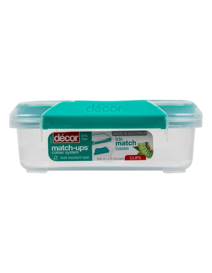 Match-Ups Clips Square 630mL Clear/Teal image 1