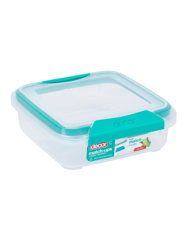 Match-Ups Clips Square 630mL Clear/Teal image 2