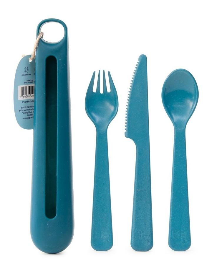 Cutlery Case W/ 3Pc Cutlery Jade image 2