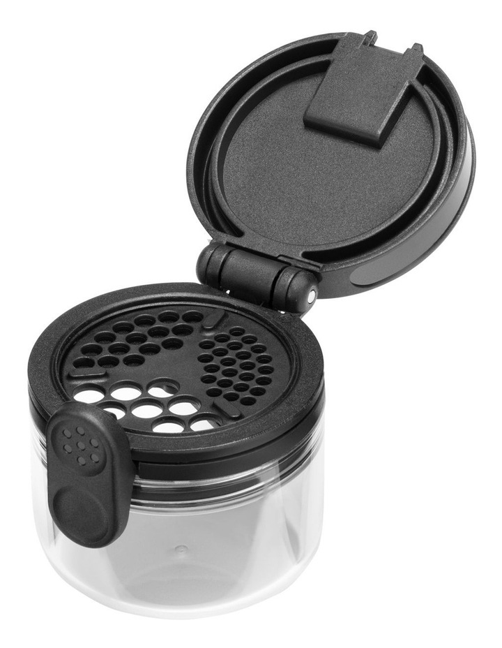 Orlid Glass Spice Jar with Dual-Flip Lid in Black/Clear image 5