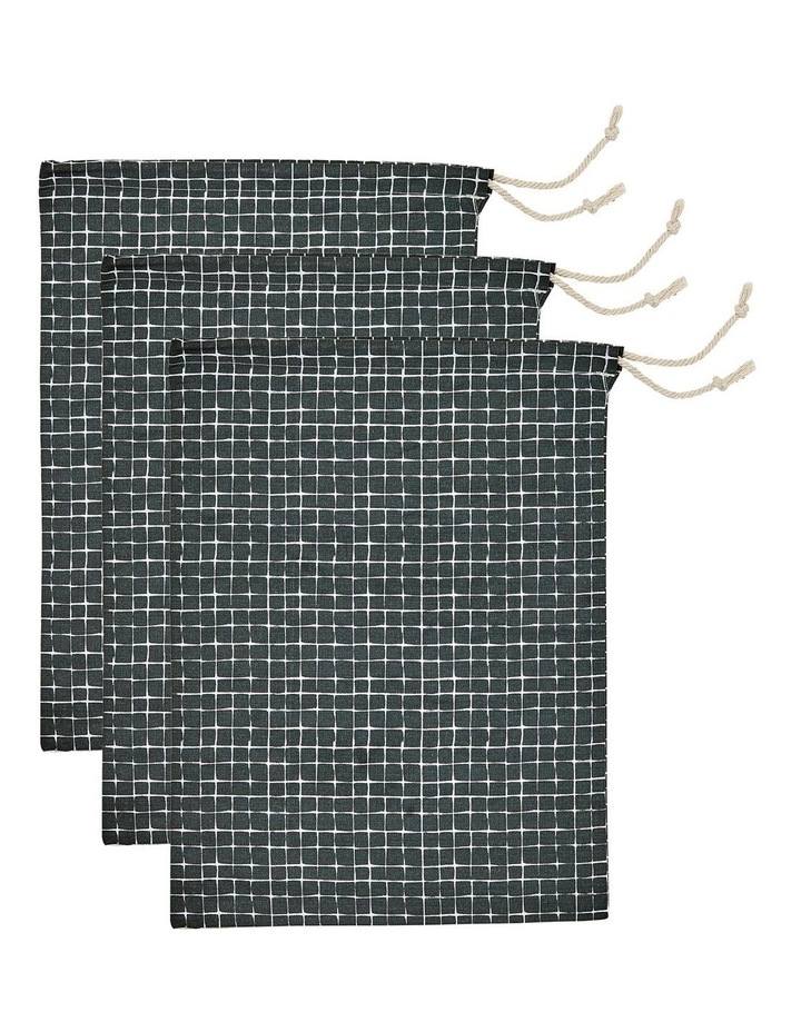 Eco Produce Bag Set in Charcoal Check image 1