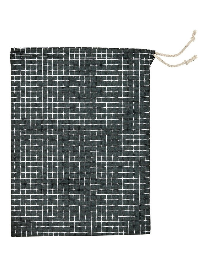 Eco Produce Bag Set in Charcoal Check image 2