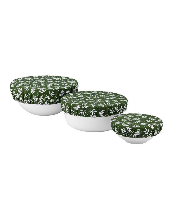 Intrinsic Green Leaf 3pk Stretch Bowl Covers image 1