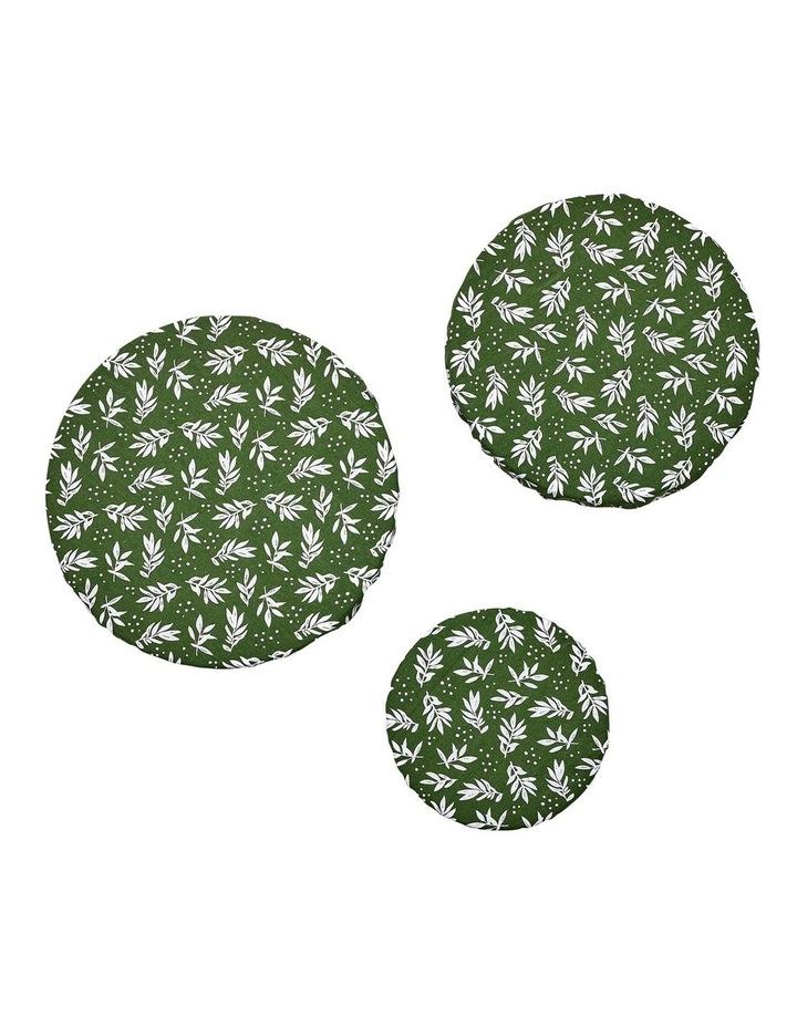 Intrinsic Green Leaf 3pk Stretch Bowl Covers image 2