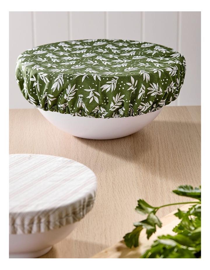 Intrinsic Green Leaf 3pk Stretch Bowl Covers image 3