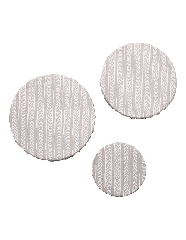 Intrinsic Taupe Aztec 3pk Stretch Bowl Covers image 2