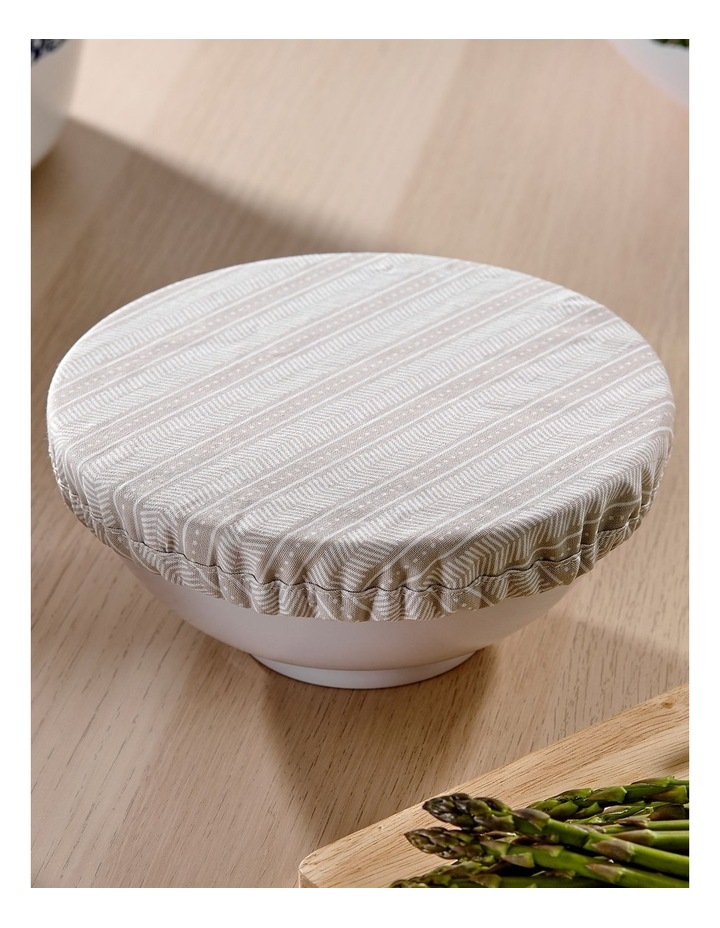 Intrinsic Taupe Aztec 3pk Stretch Bowl Covers image 3