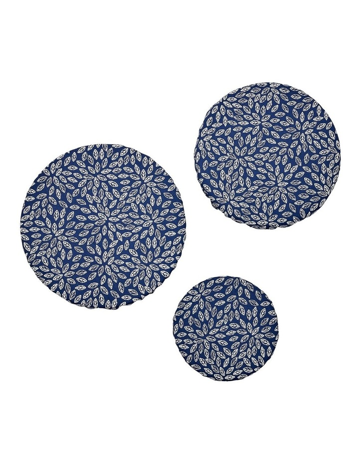 Repose Navy Flowers 3pk Stretch Bowl Covers image 2
