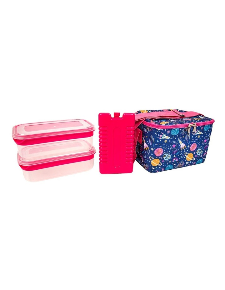 Summer Fun Space Print 4 Piece Lunch Set image 1