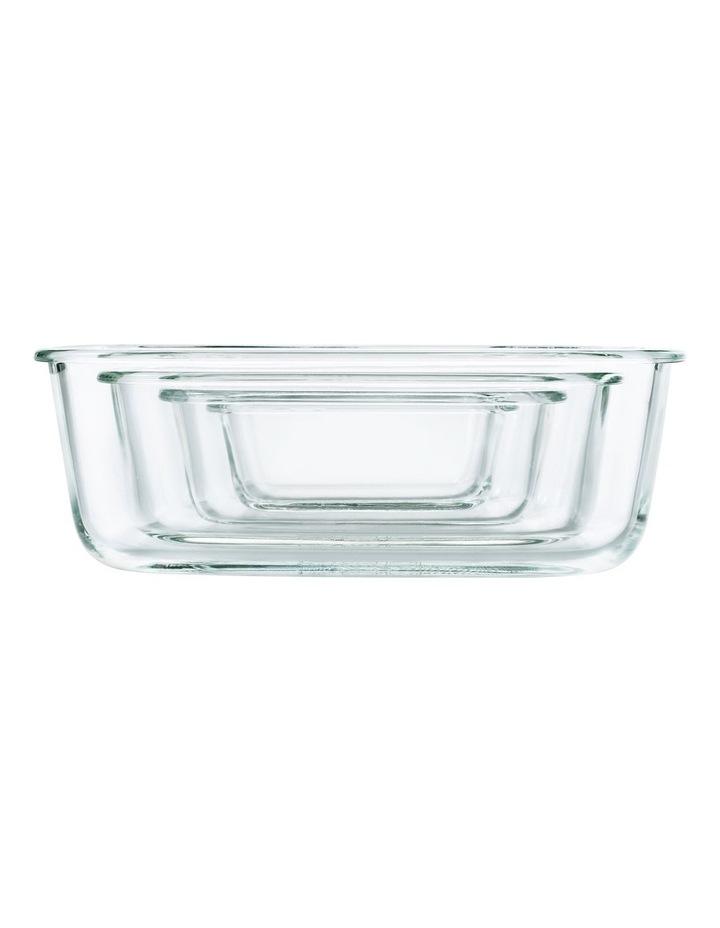 4-Piece Smart Seal Glass Rectangular Container Set image 7