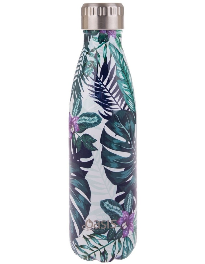 Stainless Steel Double Wall Insulated Drink Bottle 500ml - Tropical Paradise image 1