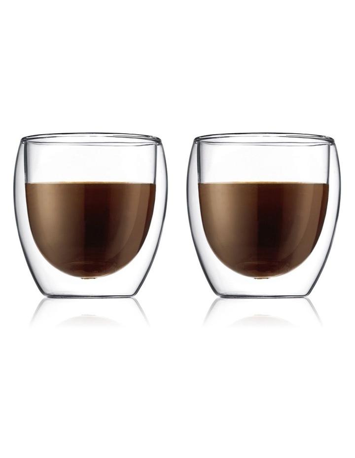 Pavina Double Wall Latte Glasses, Set of 2, 250ml image 1