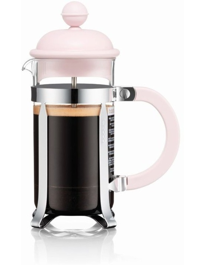 Caffettiera  Coffee maker, plastic beaker, 3 cup, 0.35 l, 12 oz - Strawberry image 1