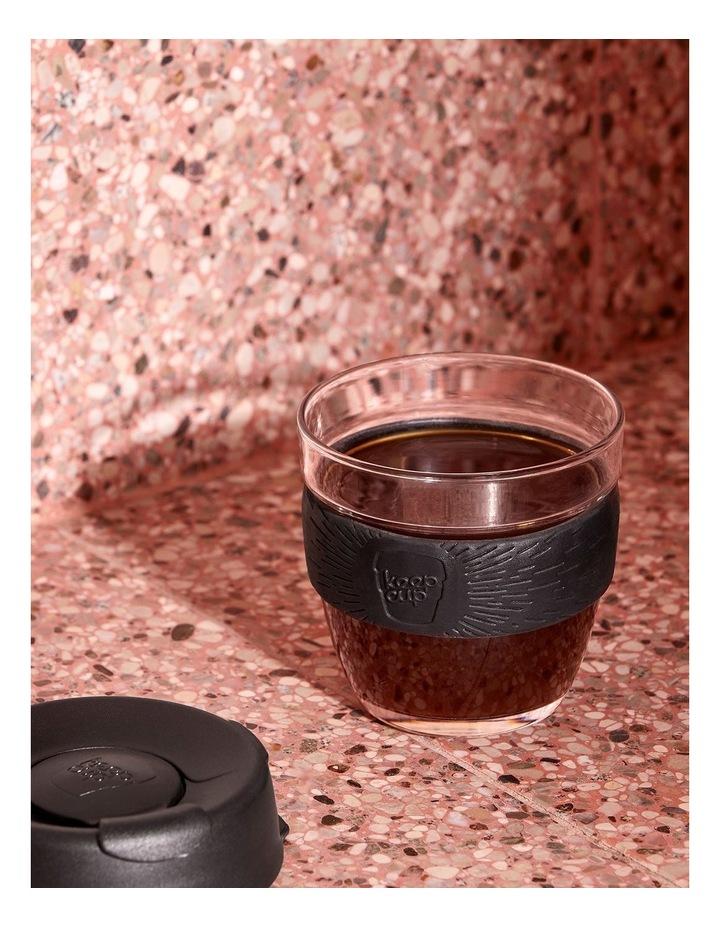 Brew, Reusable Glass Cup, Black S 8oz / 227ml image 2