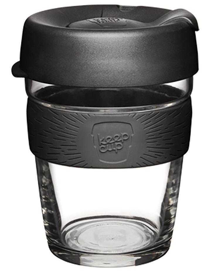Brew, Reusable Glass Cup, Black M 12oz / 340ml image 1