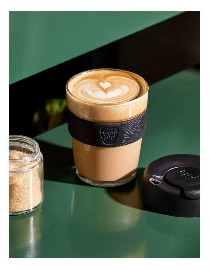 Brew, Reusable Glass Cup, Black M 12oz / 340ml image 2