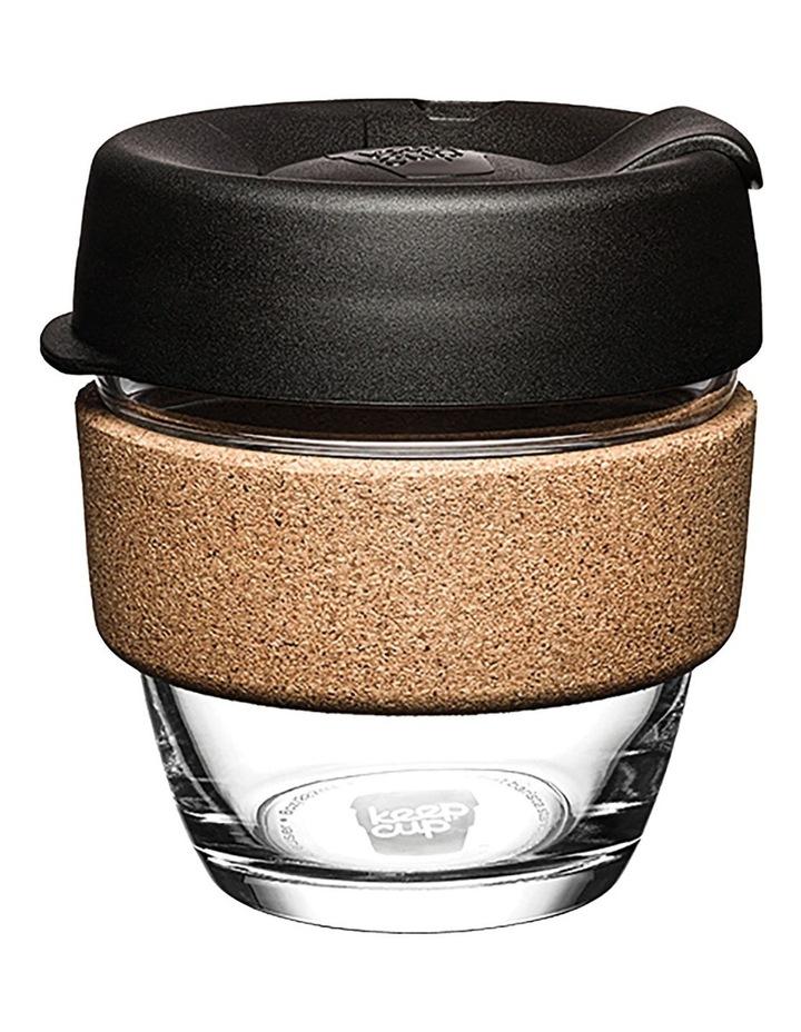 Brew Cork, Reusable Glass Cup, Black S 8oz / 227ml image 1