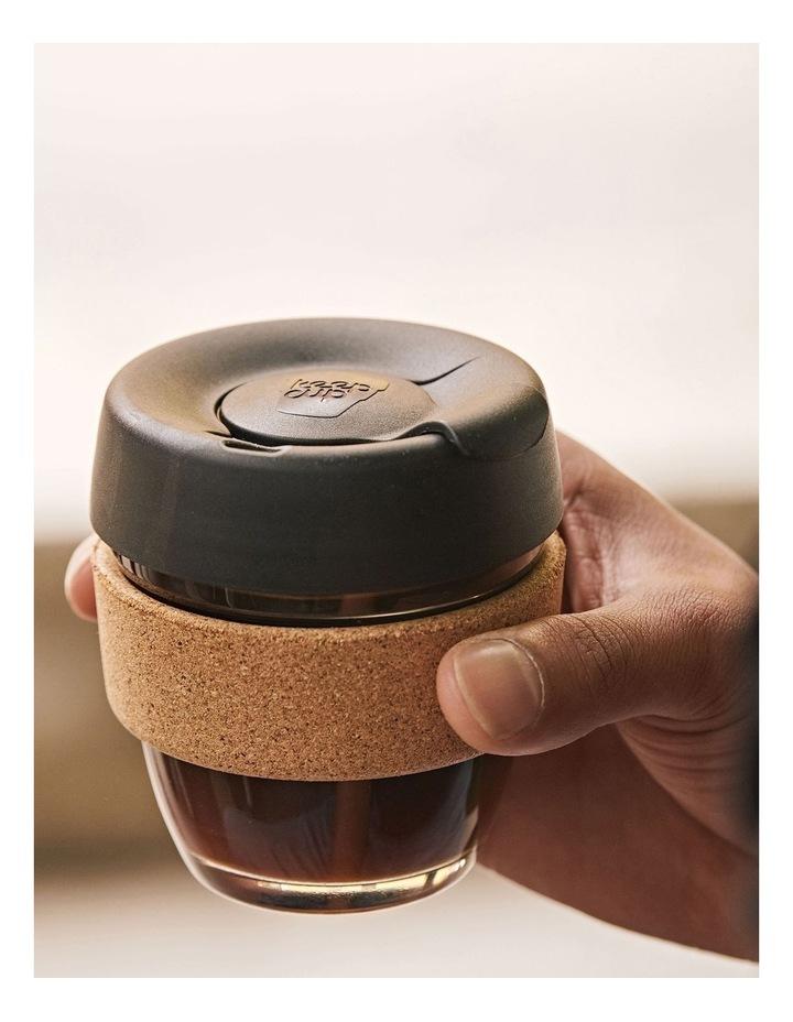 Brew Cork, Reusable Glass Cup, Black S 8oz / 227ml image 2
