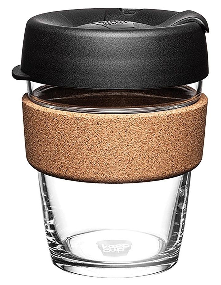Brew Cork, Reusable Glass Cup, Black M 12oz / 340ml image 1