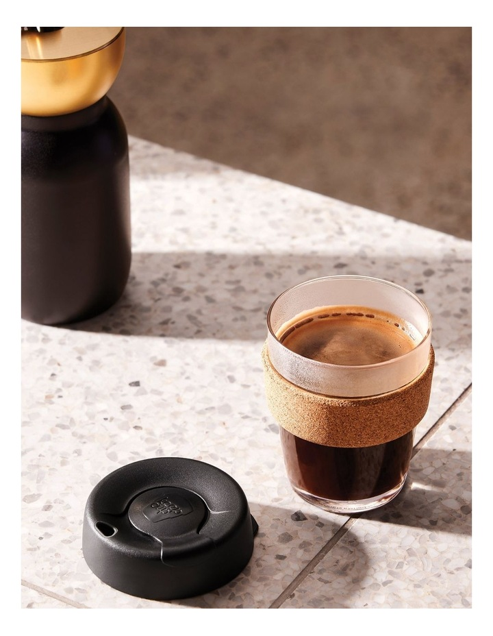 Brew Cork, Reusable Glass Cup, Black M 12oz / 340ml image 2