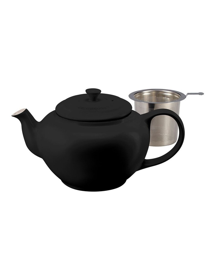 Classic Teapot wth Stainless Steel Infuser Satin Black image 1