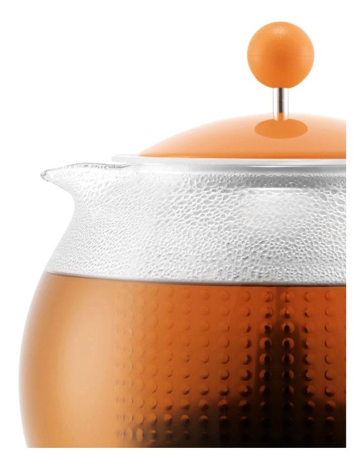 Assam Tea Press with Glass Handle, Plastic Filter and Coloured Plastic Lid 1 Litre Bellini image 2