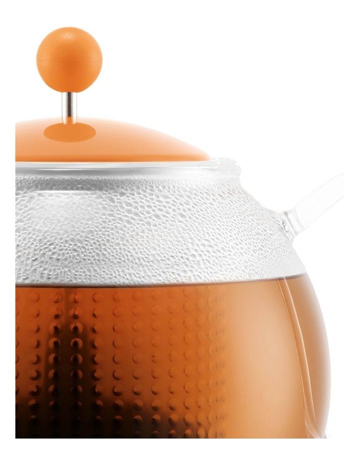Assam Tea Press with Glass Handle, Plastic Filter and Coloured Plastic Lid 1 Litre Bellini image 3