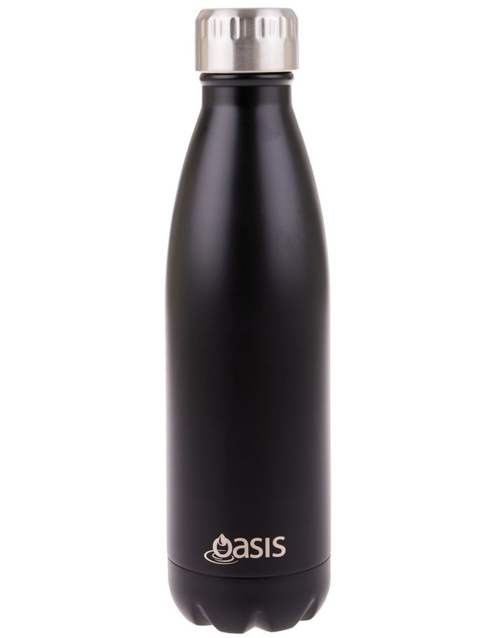 Stainless Steel Double Wall Insulated Drink Bottle 500ml - Matte Black image 1