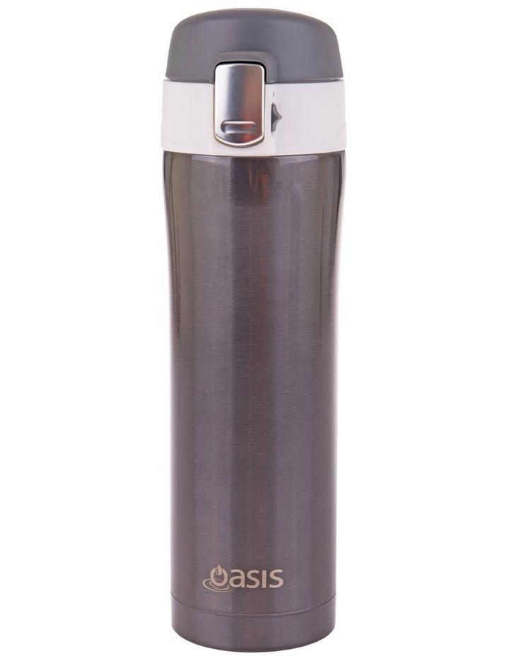 Stainless Steel Flip-Top Vacuum Flask 450ml - Gunmetal image 1