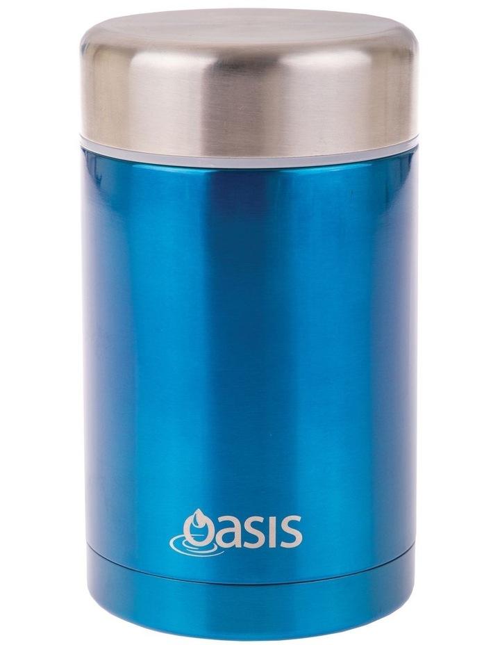 Stainless Steel Vacuum Insulated Food Flask 450ml - Aqua image 1