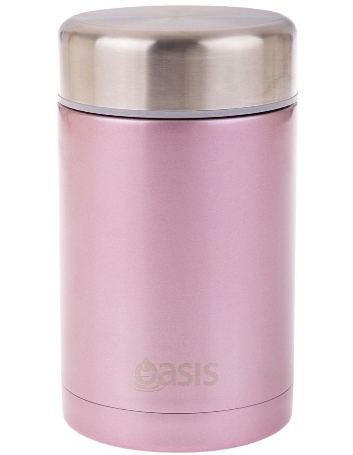 Stainless Steel Vacuum Insulated Food Flask 450ml - Blush image 1