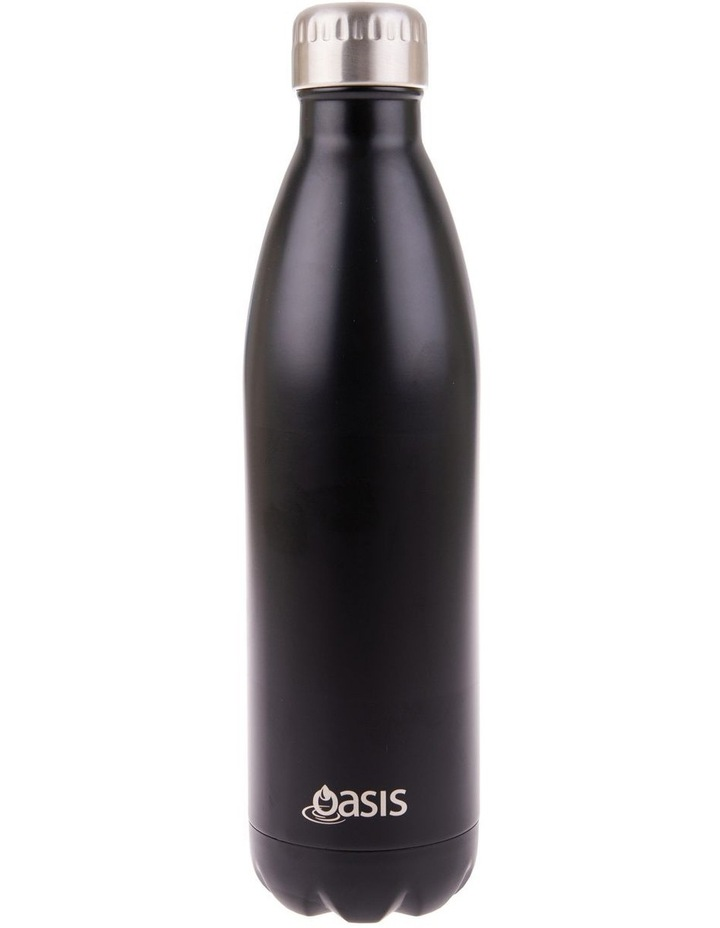 Stainless Steel Double Wall Insulated Drink Bottle 750ml - Matte Black image 1