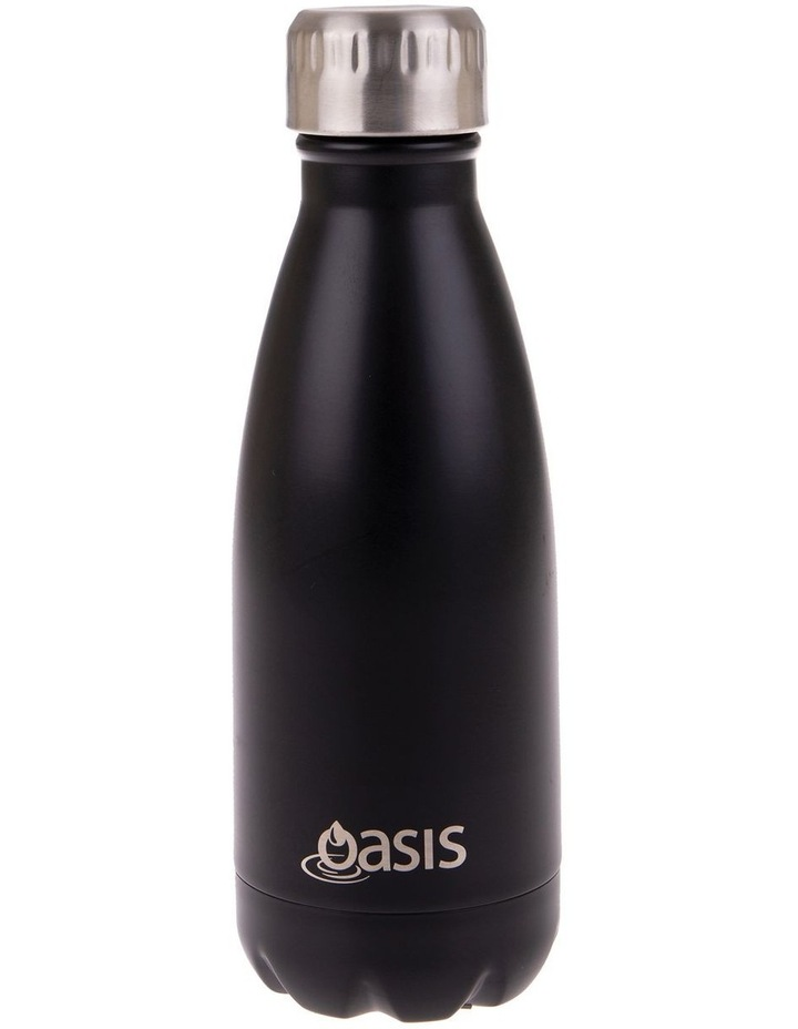 Stainless Steel Double Wall Insulated Drink Bottle 350ml - Matte Black image 1