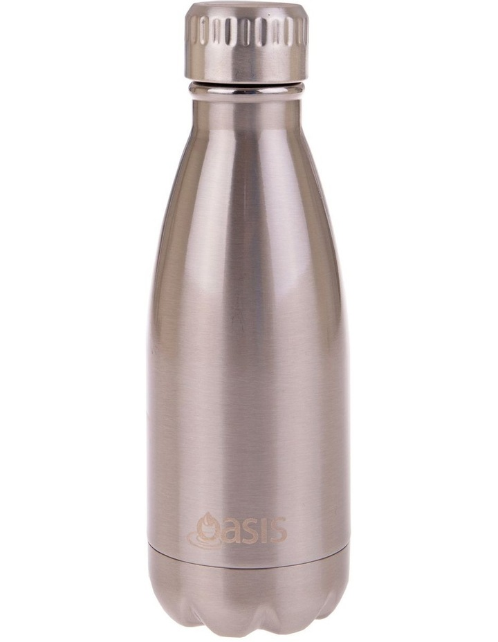 Stainless Steel Double Wall Insulated Drink Bottle 350ml - Silver image 1