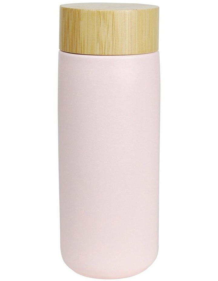 The Journey Drink Bottle With Bamboo Lid 320ml Matte Pink image 1