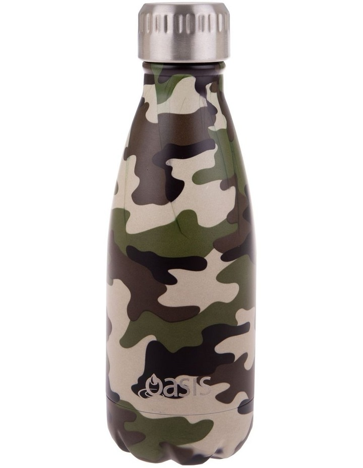 Stainless Steel Double Wall Insulated Drink Bottle 350ml - Camo Green image 1