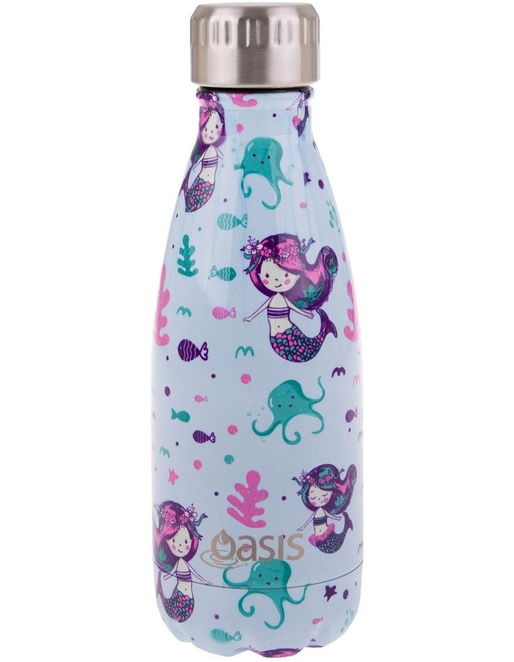 Stainless Steel Double Wall Insulated Drink Bottle 350ml - Mermaids image 1