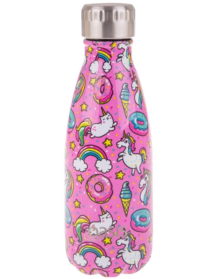 Stainless Steel Double Wall Insulated Drink Bottle 350ml - Unicorns image 1