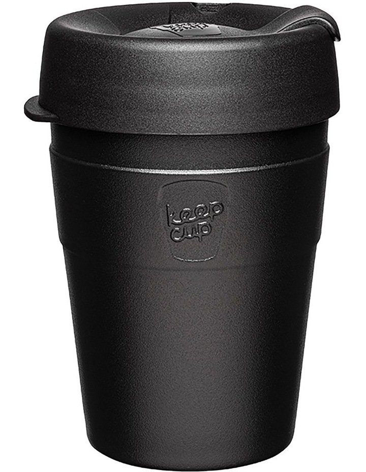 Thermal, Stainless Steel Reusable Cup, Black M 12oz / 340ml image 1
