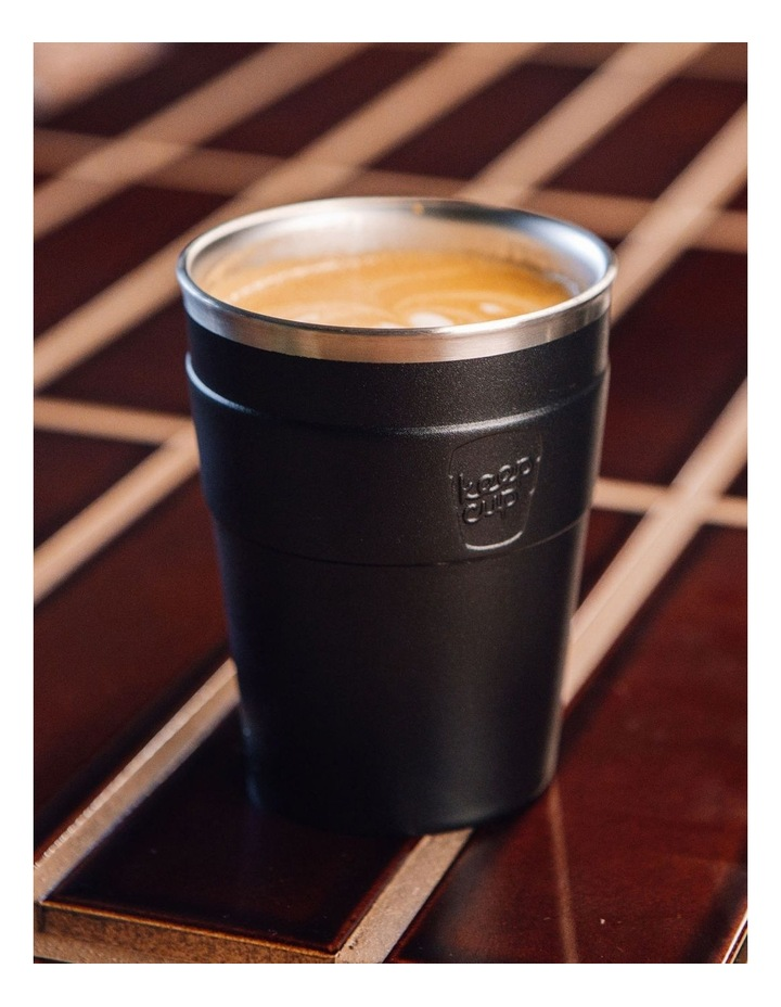 Thermal, Stainless Steel Reusable Cup, Black M 12oz / 340ml image 2