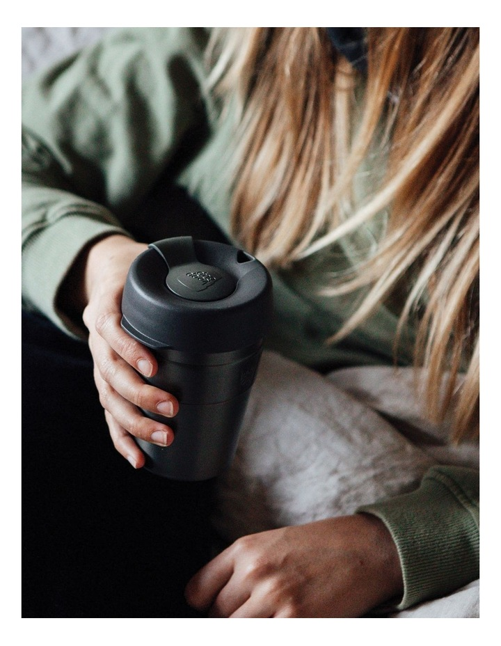 Thermal, Stainless Steel Reusable Cup, Black M 12oz / 340ml image 3