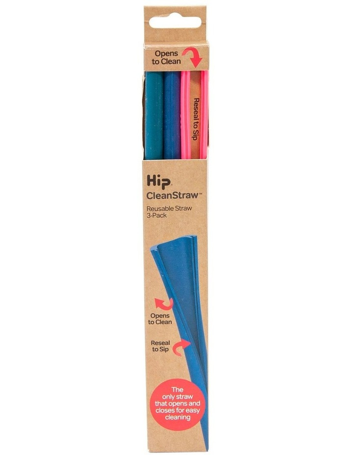 SqueakyCleanStraw 22cm 3-Piece - Brights image 1