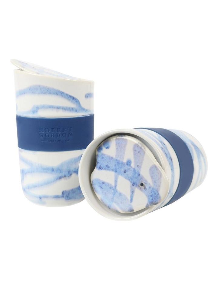 Journey Travel Mug Set of 2-Blue Splatter image 1