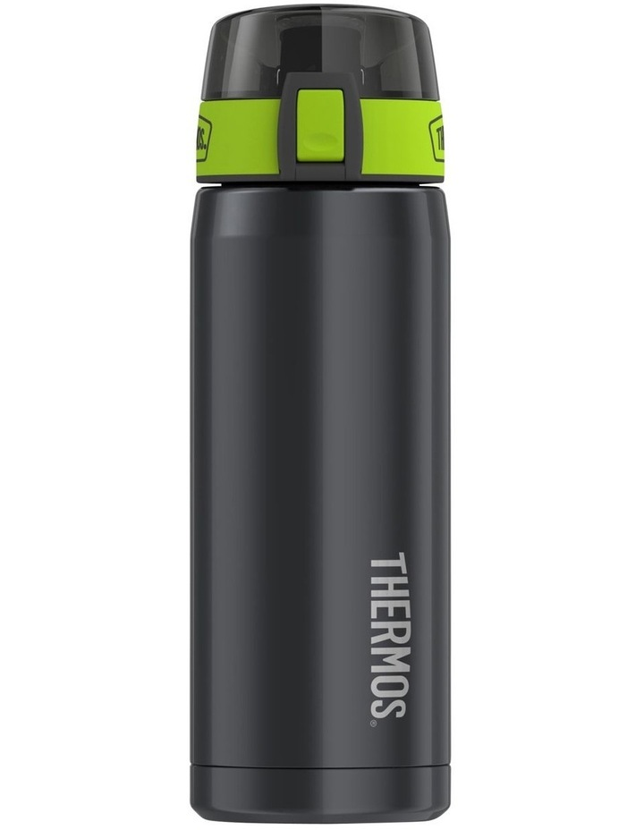 530ml Vacuum Insulated Hydration Bottle in Smoke with Lime Green Accents image 1